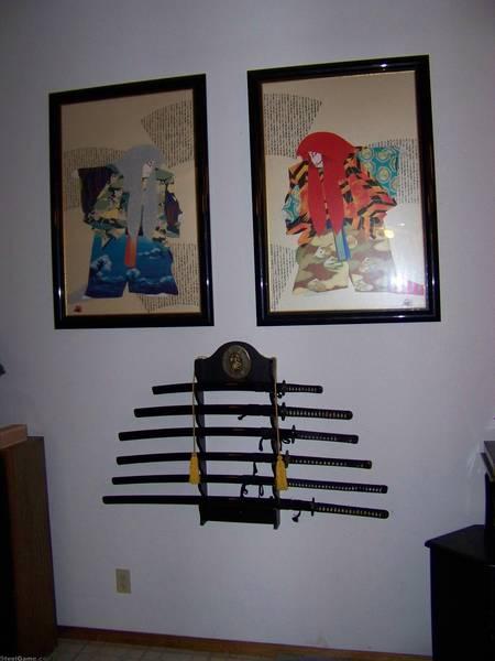 sword & paintings